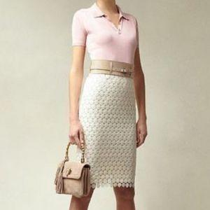 NWT Talbots Daisy Lace Pencil Skirt - 2